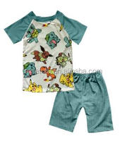 2017 Latest boutique baby boys' clothes Unique fashional Animals printed tops with shorts children kids clothes