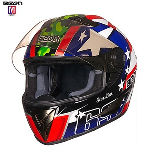 2019 Winter Hot Sale Cool Black Blue Decals Full Face BEON m1 Helmet cruiser motorcycle casco moto modular for sale