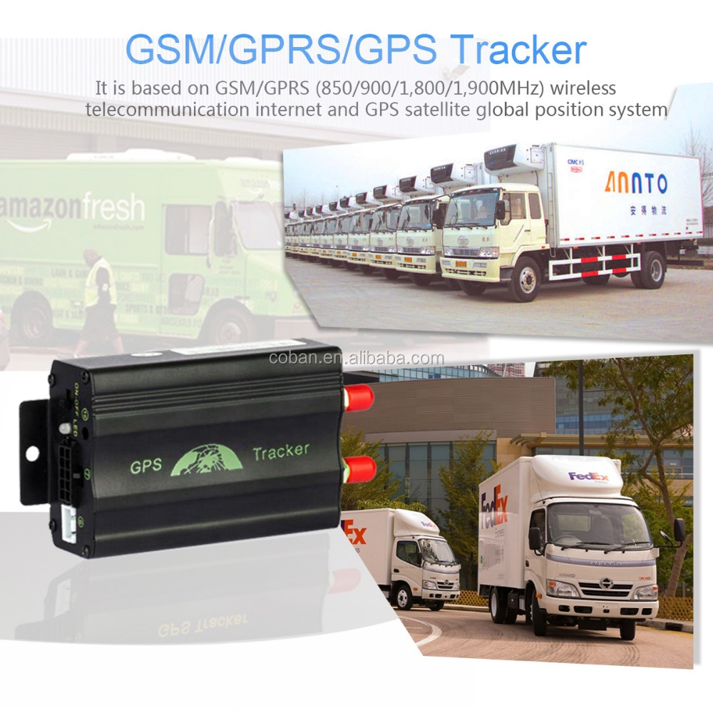 Manual Gps Sms Gprs Tracker Vehicle Tracking System Lock / Unlock ...