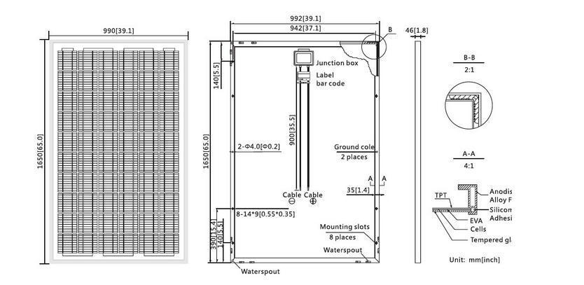 Grade A Soalr Panel Factory Direct Price Per Watt Solar