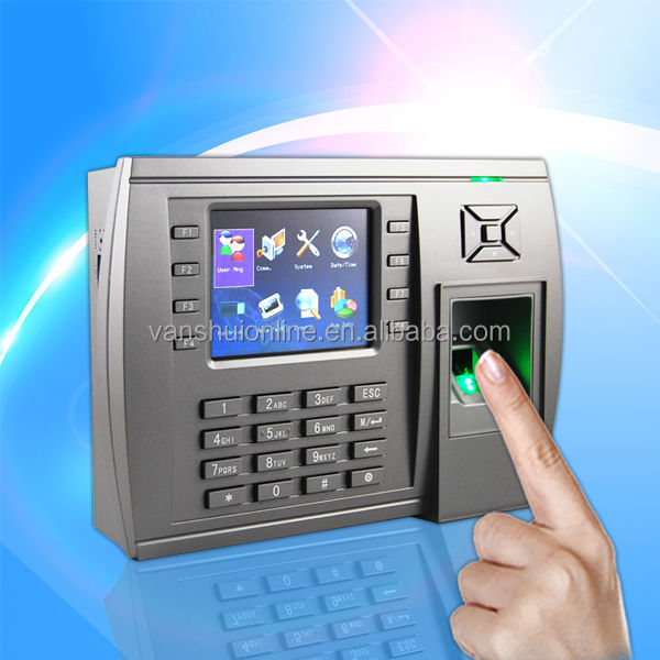 Fingerprint Access Control system with time recording support photo-ID and WIFI or GPRS