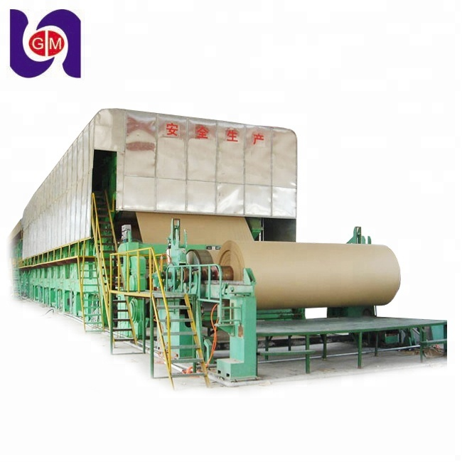 Zhengzhou guangmao machinery recycling waste paper machine and cardboard to make craft paper rolls