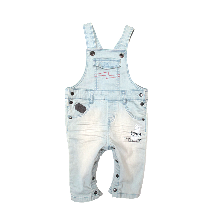 कस्टम बच्चे नई के जन्म के कपड़े शिशु और बच्चा कपड़े शिशु ब्रेसिज़ प्रिंट पैंट छोटा लड़का बच्चों के जींस डेनिम चौग़ा