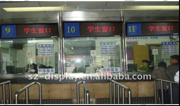 p10 outdoor single red led display for train and bus stations showing information programmable system