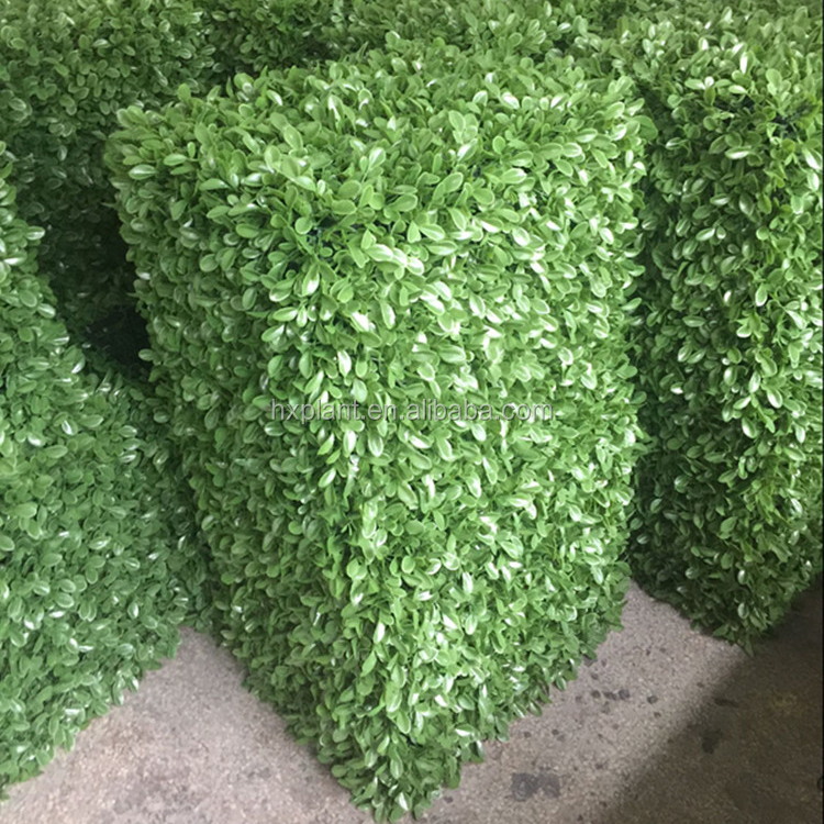 high quality artifiical hedge indoor&outdoor decoration artificial green boxwood hedge