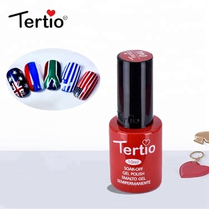 2018 hot sale 10 ml gel nail art color uv nail gel