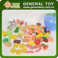 Plastic Food Toys, Fast Food Play Set, Food Toy Set