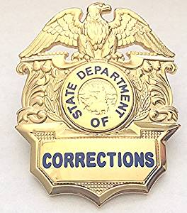 State Department Of Corrections Badge, DOC Uniform Costume Novelty Prison  Guard Jail Security Correction Officer