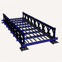 Prefabricated steel bailey bridge with new type and high guality material