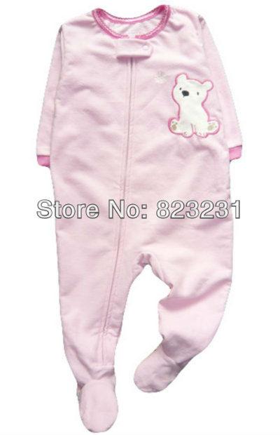 f57f02192e12 Cheap Baby Girl Footed Pajamas
