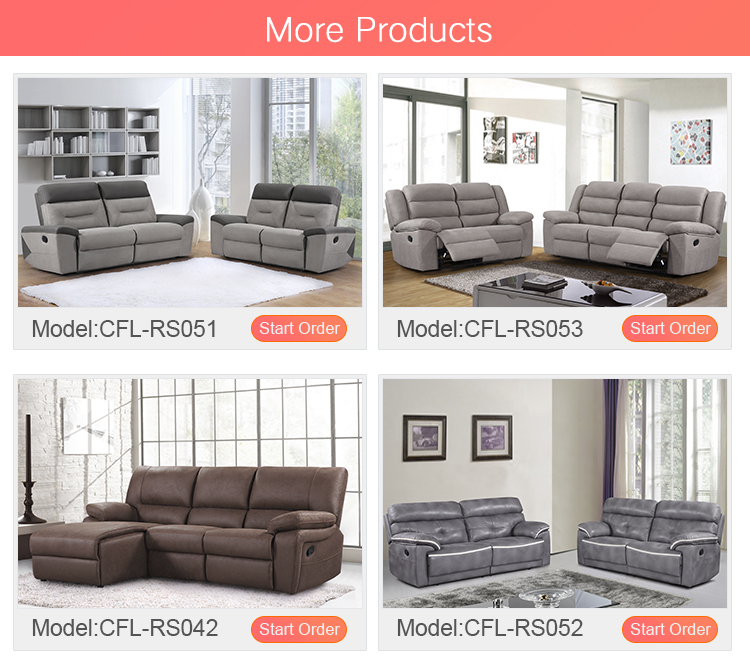 Comfortlands vida precio al por mayor Italia diseño en relieve tela/Tela de tejido de punto/de aire sofá reclinable