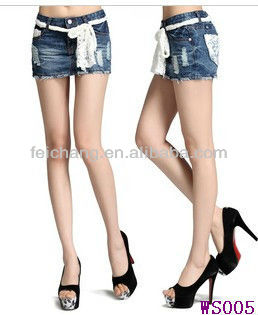 Hot Mini Skirt Jeans Fashion Ladies Tops Latest Design Tight Slim