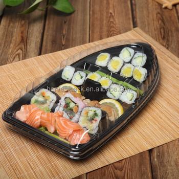 Forma De Barco Sushi Bandejas De Plástico Descartável Com Material ... 4c912f7d3adf5