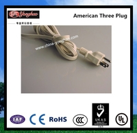 YH-12/13 American Three PINS 125 V/15 A high quality with Lower price/ Yonghao Factory Supply Safe UL Power cord with IEC 13