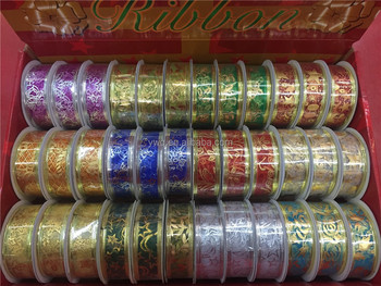 1inch wire edge christmas ribbon wholesale 25cm decorating christmas wired ribbon
