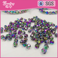 New Arrival Rainbow Color Gold Filled Beads For Jewelry Making Wholesale Mardi Gras Beads