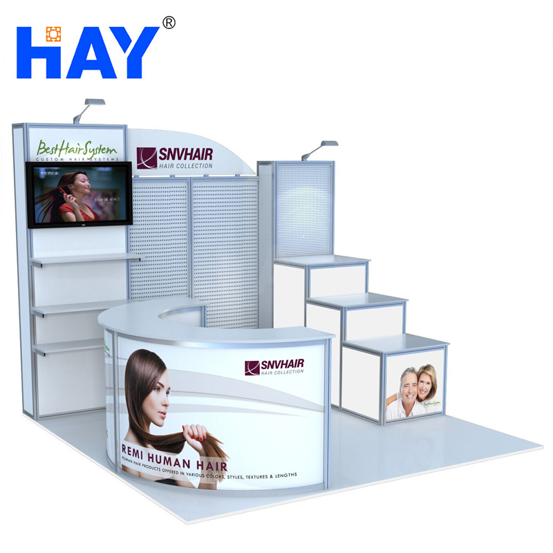 envirmentally-friendly display booth for retailer for exclusive distributor