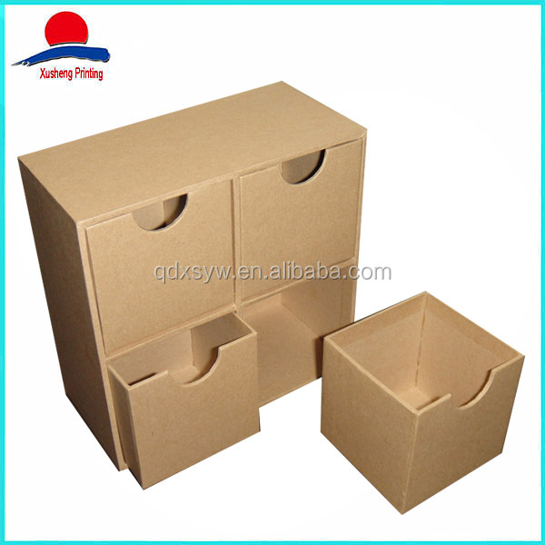 High quality corrugated box sleeves,Storage Box with 4 windows