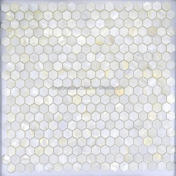 Wonderbaarlijk Badkamer Backsplash Wanddecoratie Natuur Wit Hexagon Parelmoer DA-73