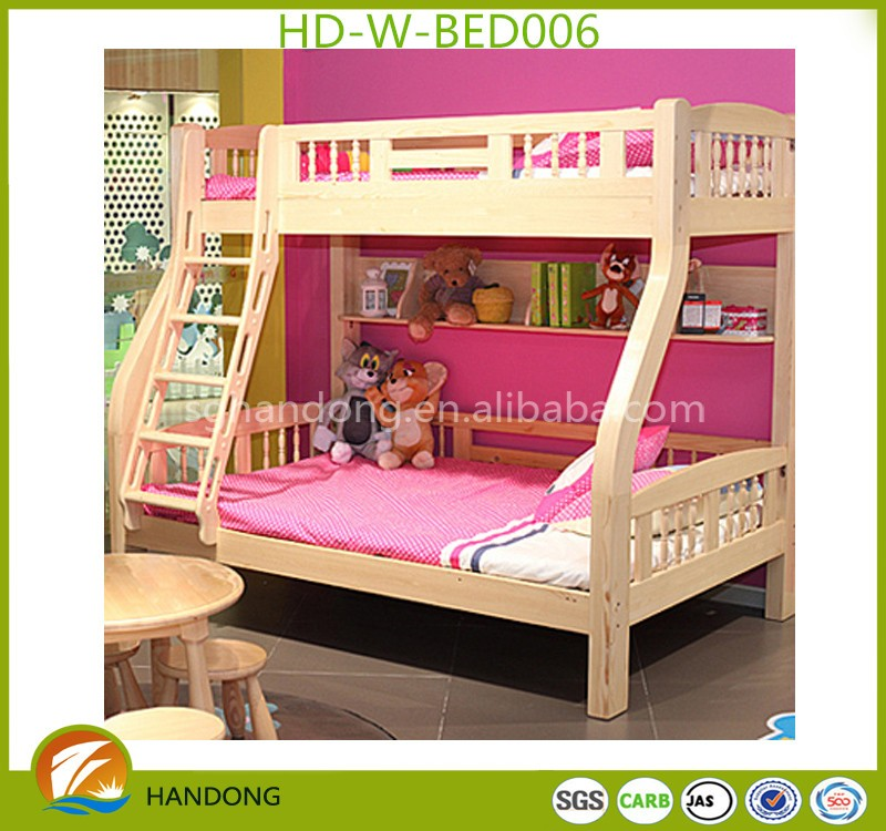Hot Sale And Cheap Furniture Kids Wood Bunk Bed Wholesale