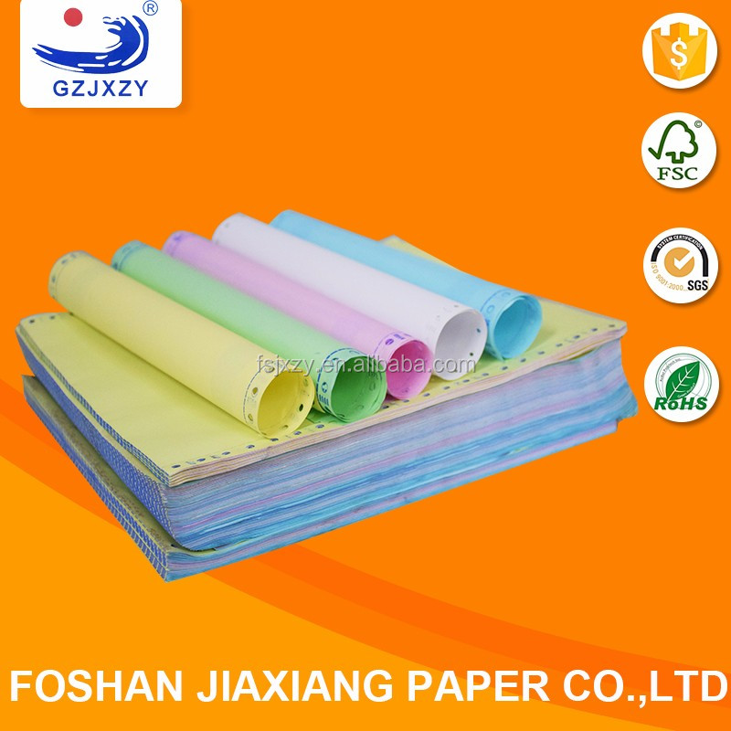 High Quality computer continuous paper ncr 5 color copy paper in stock