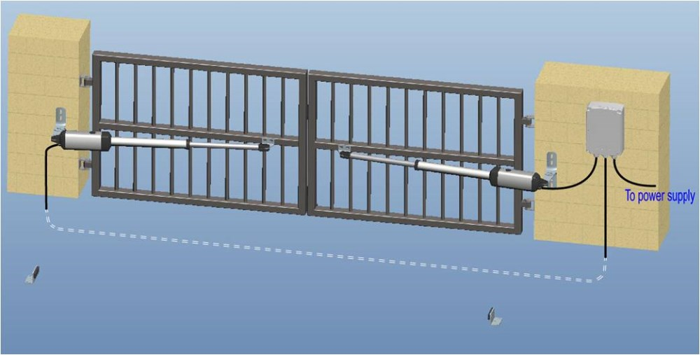 Mechanical Limit Automatic Gate With Swing Arms - Buy Automatic  Gate,Automatic Gate,Automatic Gate Product on Alibaba com