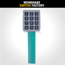 customized silicone rubber tactile numeric membrane switch 4x3 keypad