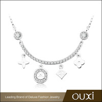 OUXI 2017 High quality charmgs statement necklace costume jewelry C10014