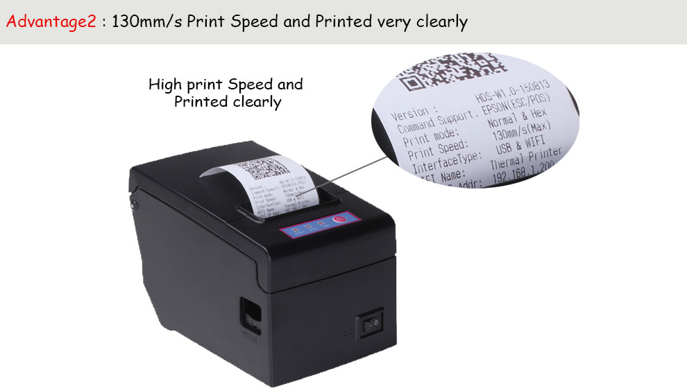 130mm/s high speed 2 inch bluetooth android pos printer with sdk support multiple computer airway bill printer
