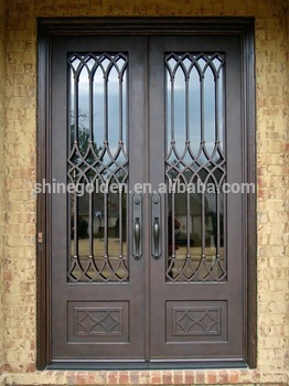 China Supplier Safety Door Design With Grill/Metal Door Frame/Iron Door