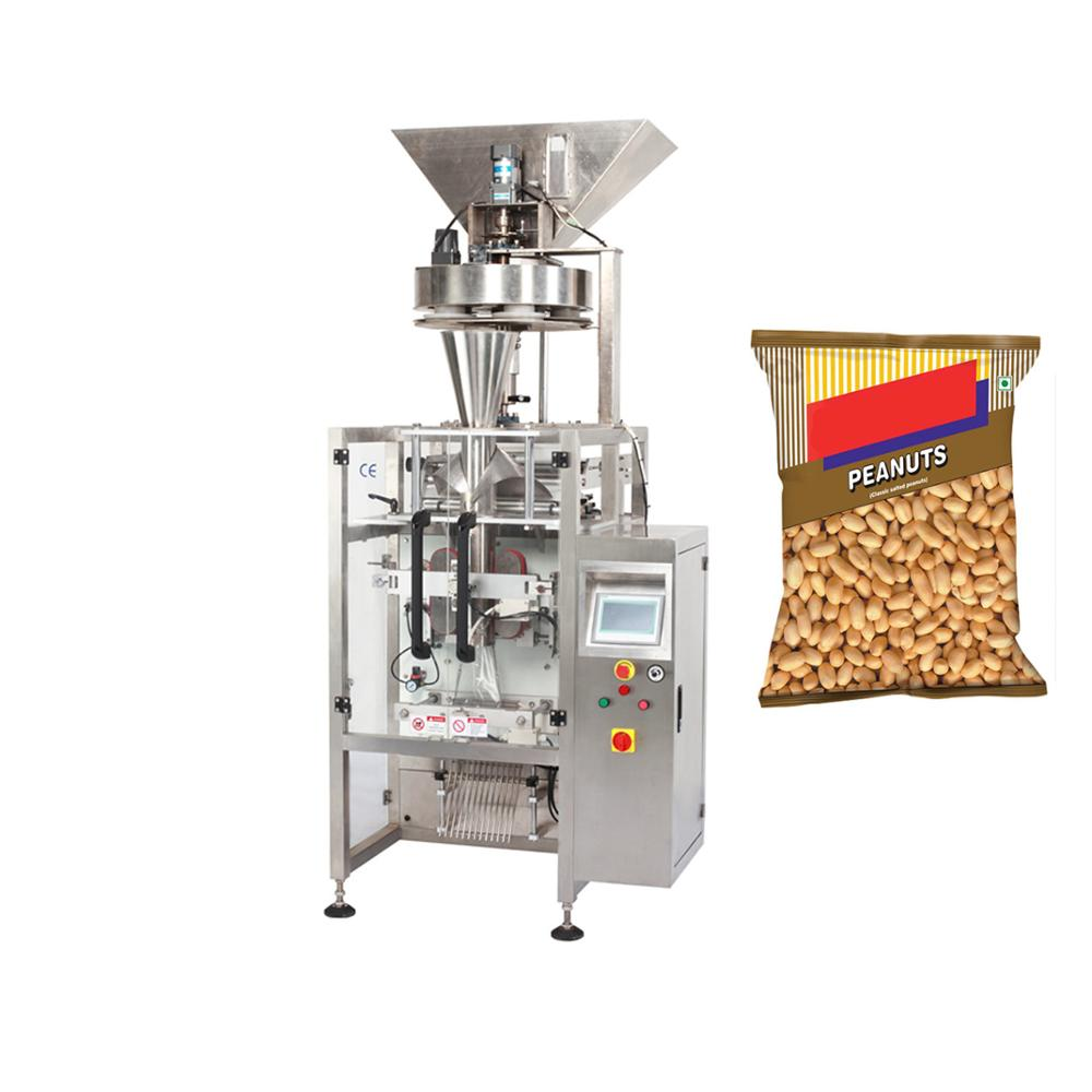 Groundnut granulated beans packaging machine for roasted peanuts dried fruit with code printer machinery