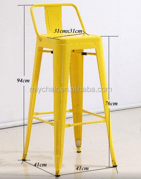 Nuevo producto comercial silla de madera cojines Tolixes Silla de Bar