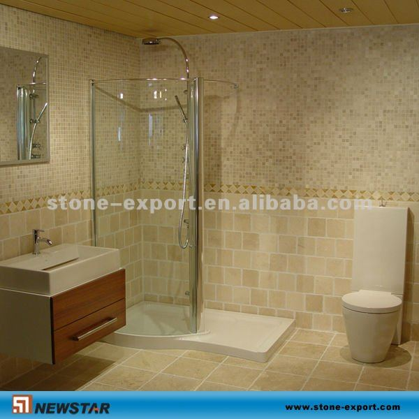 Beige Salle De Bain Importation Travertin - Buy Travertin D ...