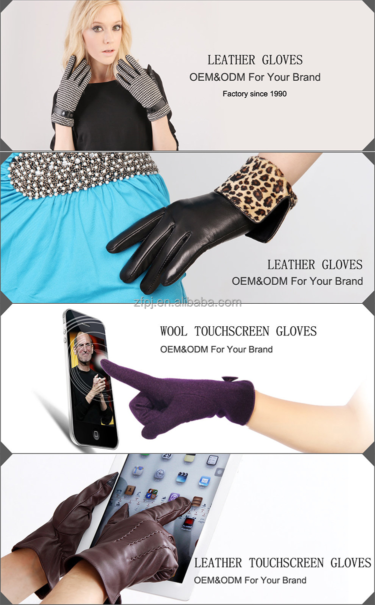 Ladies leather gloves navy blue - 2016 Fashion Dresses Mens Warm Winter Leather Gloves