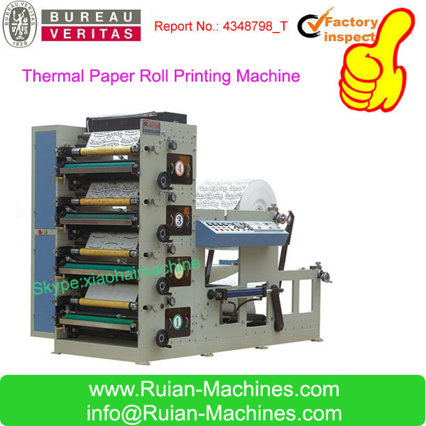 New Type 4 Color Flexo Thermal Paper Roll Printing Machine
