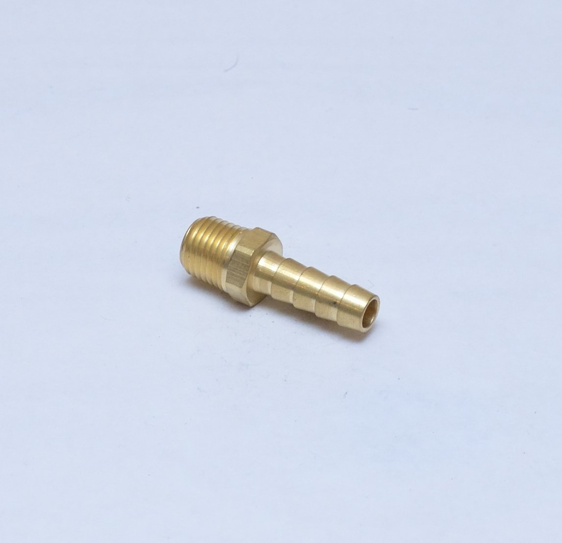 "FasParts 5/16"" Hose ID / Hose Barb to 1/4"" Male NPT MIP MPT Straight Brass Fitting Fuel / Air / Water / Boat / Gas / Oil WOG"