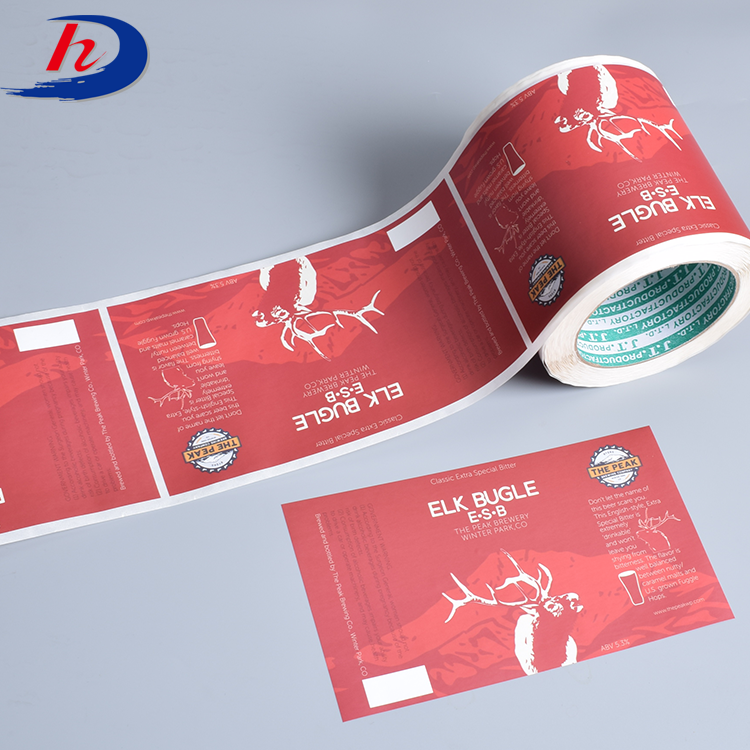 Custom Printed Clear Polyester Product Adhesive Sticker Label
