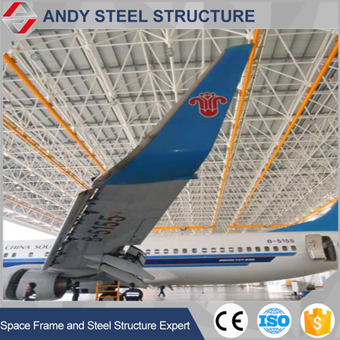 Produce & customized design steel structure frame for aircraft hangar