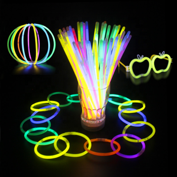 100 Light up Toys Glow Stick Bracelets Mixed Colors Party Favors Supplies (Tube of 100)