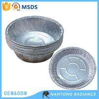 Disposable roud aluminum foil plate aluminum foil bowl food container