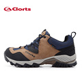 2016 Clorts Men Hiking Shoes HKL 826A B Genuine Leather Waterproof Outdoor Trekking Shoes Rubber Sport