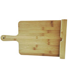 Custom high quality pro totally bamboo burnished cutting board with groove and handle