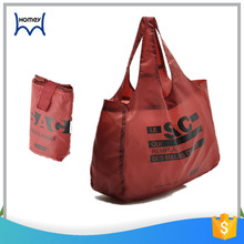 Wholesale durable custom printed folding nylon tote bag