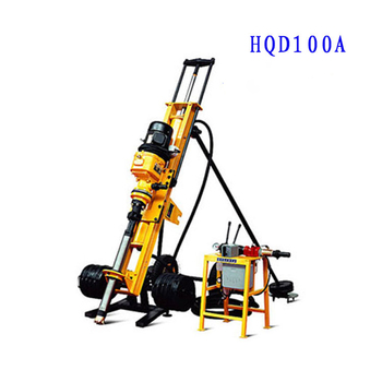 Electric 4kw Hongwuhuan Quarry Blasting Portable Drilling Dth Machine Blast Hole Crawler Equipment Small Drill Rig