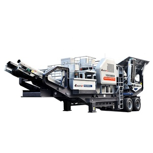 Vibrating feeder jaw crusher combined crushing and screen plant portable mobile jaw crusher plant