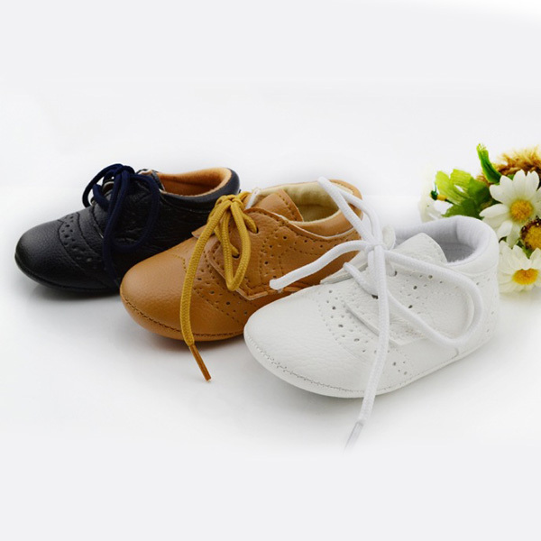New British Style Baby Kids Shoes Infant Toddler Leather Shoes Prewalker