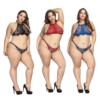 TF8132 Midnight Charm Sexy Lingerie Plus Size European and American three-point sexy underwear