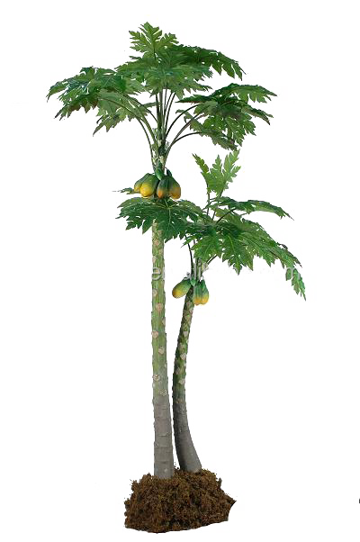 10ft outdoor fake tropical plants artifical papaya tree for patio hotel  furniture