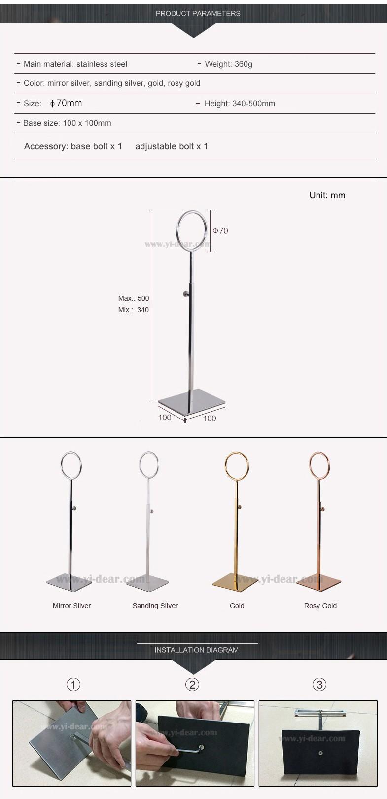 Yidear Metallo In Piedi Sciarpa Cravatta Display Rack Stand for  Boutique Fashion Retail Store 63f45f19a8a7