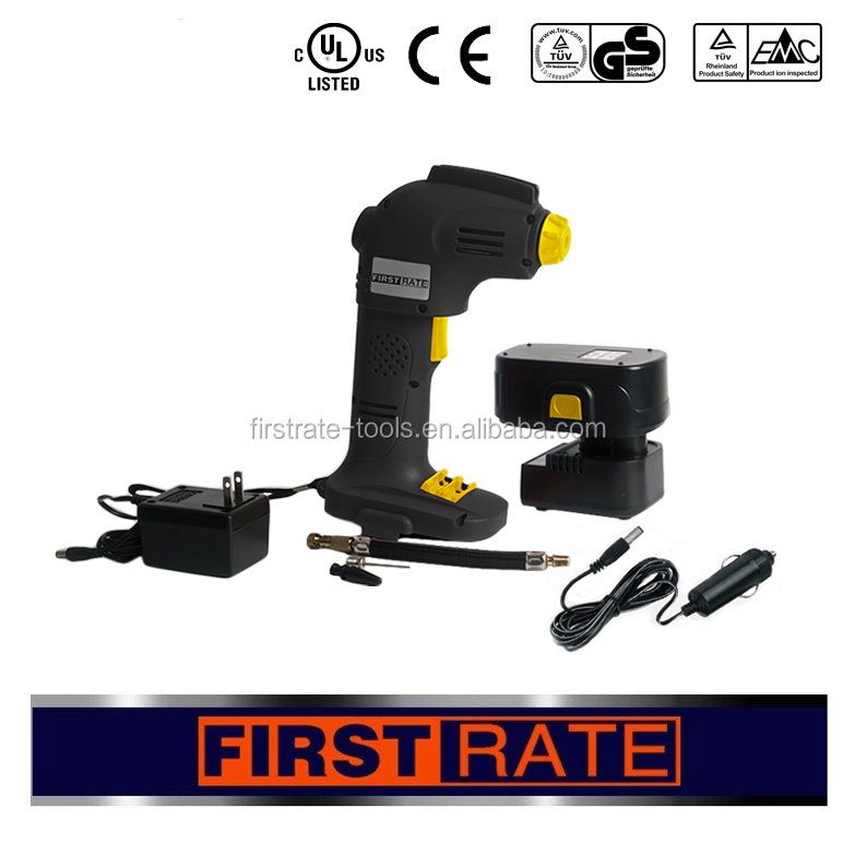 Hot sale portable cordless 9.6v/14.4v/18v/12v air compressor price